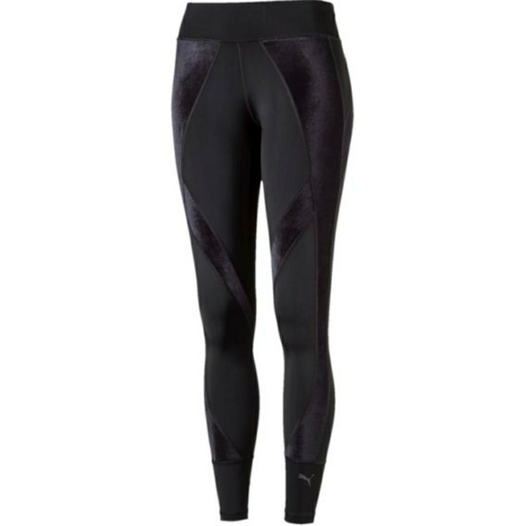 a4d2b2271526 PUMA velvet inset workout leggings